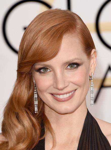Golden Globes 2015 Hair: Jessica Chastain