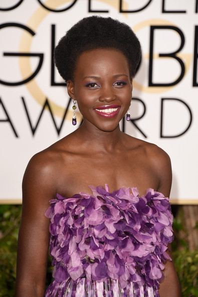 Golden Globes 2015 Hair: Lupita Nyong'o
