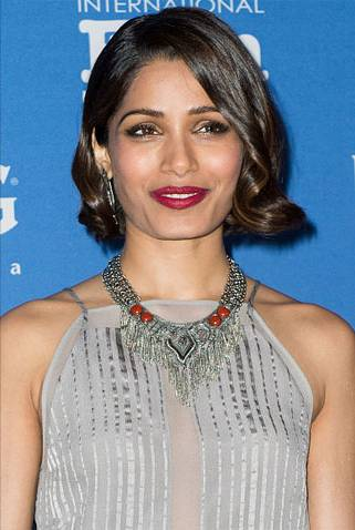 frieda-pinto-hair-santa-barbara-film-festival