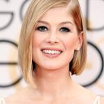 2015 Golden Globes Hair & Makeup: Rosamund Pike