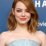 Emma Stone's Winning Bronze Eye + Coral Lip Combo For The London 'Aloha' Premiere