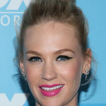 January Jones' Shocking Pink Lip You Need To Recreate This Second