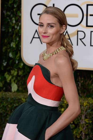 BEVERLY HILLS, CA - JANUARY 10: 73rd ANNUAL GOLDEN GLOBE AWARDS -- Pictured: Socialite Olivia Palermo arrives to the 73rd Annual Golden Globe Awards held at the Beverly Hilton Hotel on January 10, 2016. (Photo by Kevork Djansezian/NBC/NBCU Photo Bank via Getty Images)