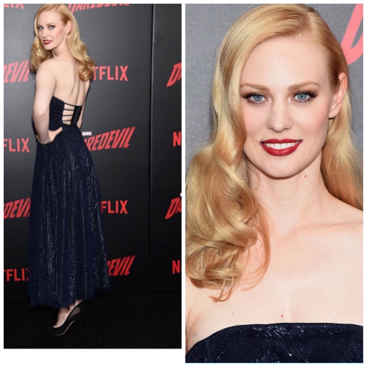 Deborah-Ann Woll's Look At The Daredevil Premiere