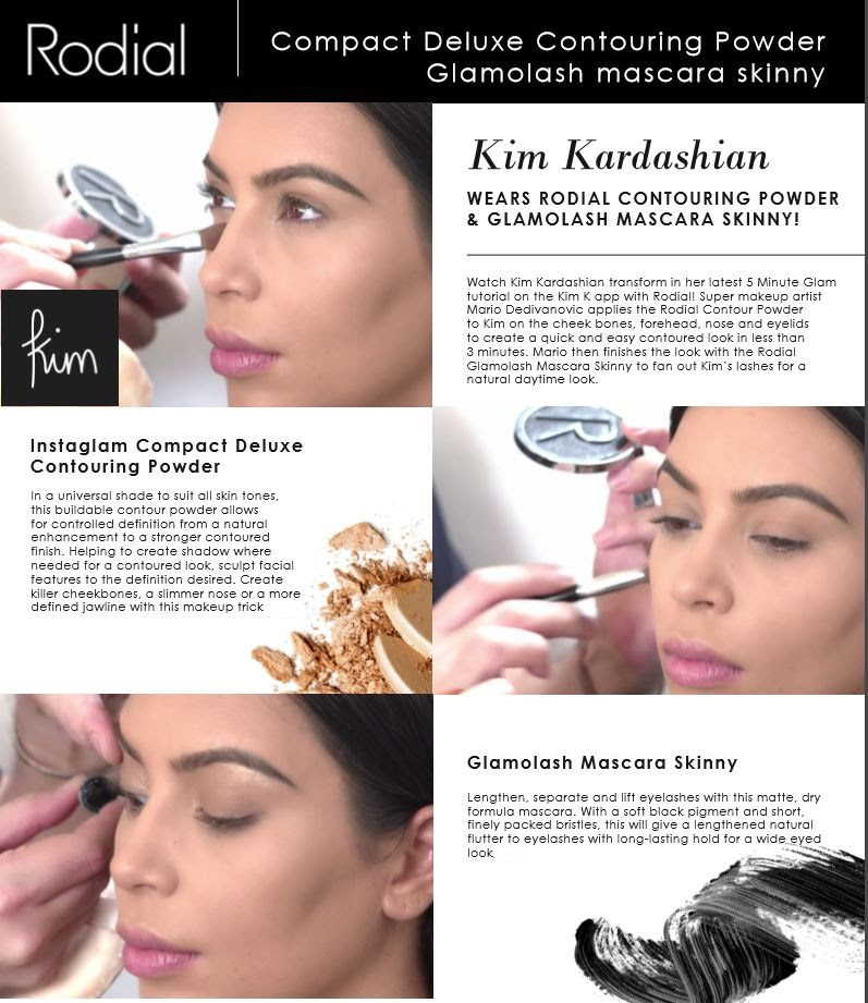 The Scoop On Kim Kardashian's Powder And Mascara