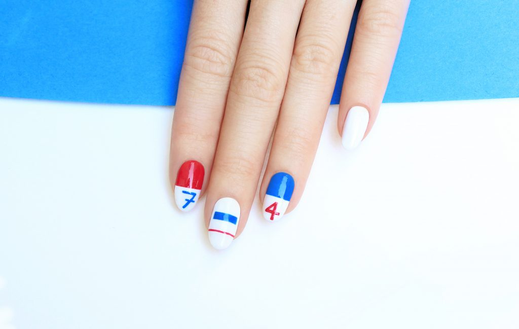 JINsoon - 4th of July Nail Art