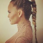 Recreate Chrissy Teigen's Triple Braided Pony For Your Holiday Parties