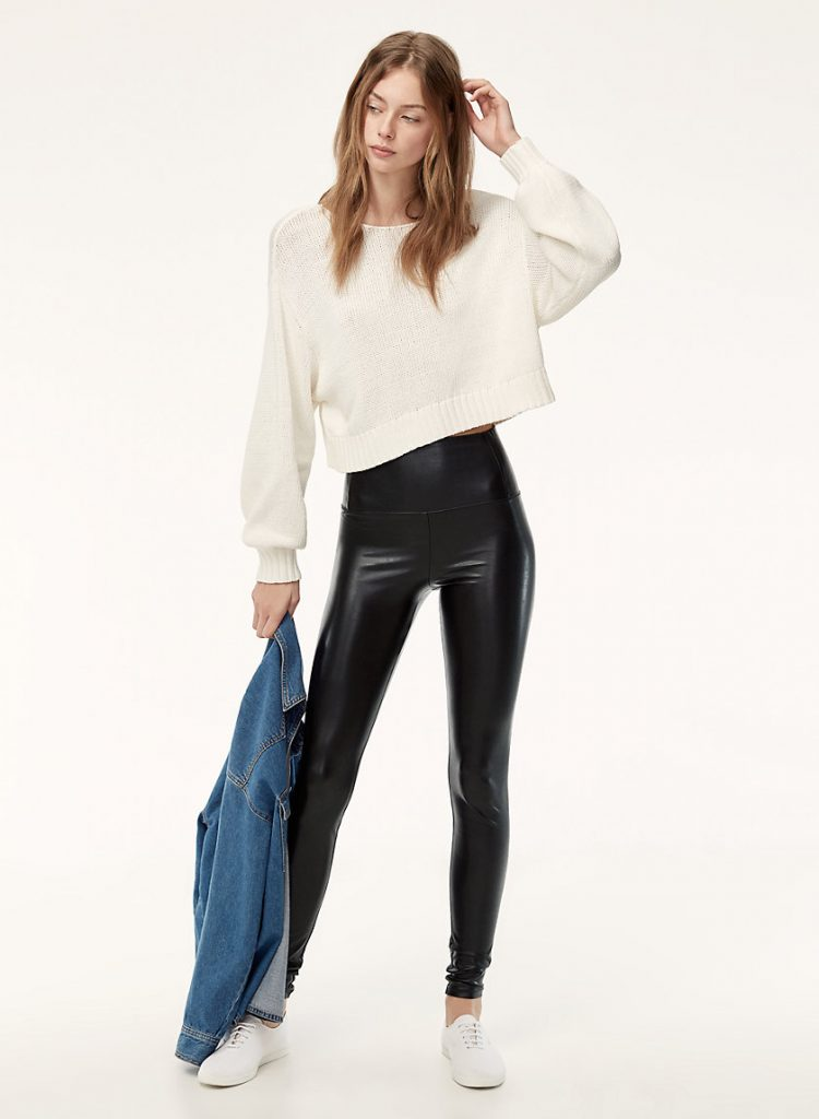 d273eeddea1e96 I've totally been converted from my go-to faux leather pants I wore at  least twice a week since 2015. My Mother versions are practically falling  apart from ...