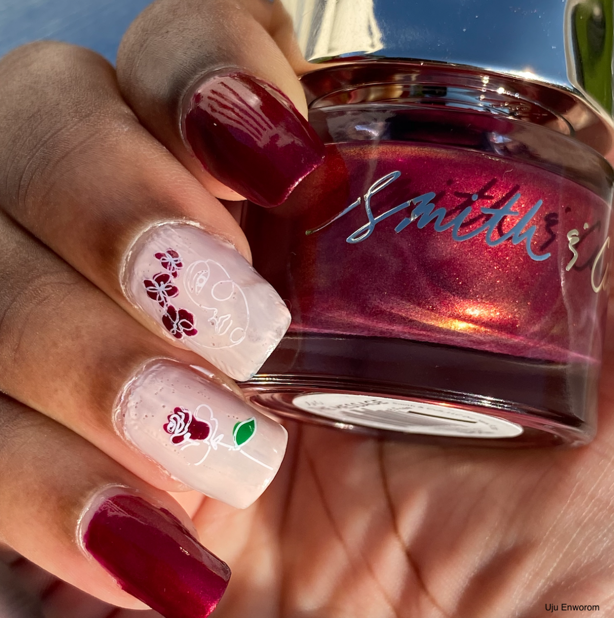Mani of the Week: Rose Line Art with Smith & Cult