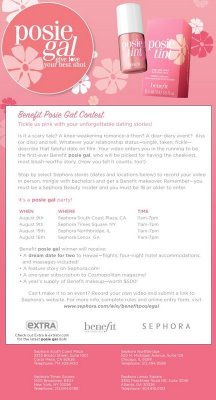 Benefit Posie Gal Contest: Tell your Most Unforgettable Dating Story