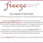 Freeze 24-7 Facebook Giveaway