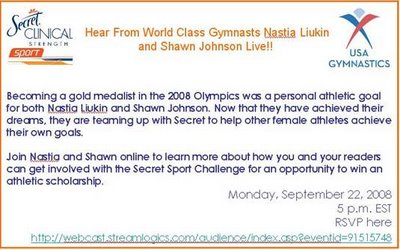 Secret Will Host a Webinar to Announce the Secret Sport Challenge and the Opportunity to Win an Athletic Scholarship