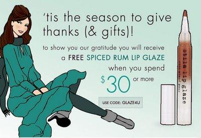 Get a Free Stila Glaze When you Spend $30 or More