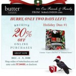 Save 20% Off Butter LONDON Online Purchases