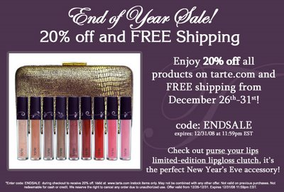 tarte's End of the Year Sale
