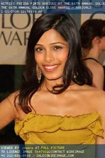 Slumdog Millionaire's Freida Pinto's Makeup at the Golden Globes