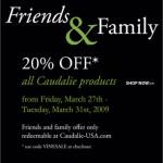 Caudalie Friends & Family : 20% Off