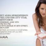 Meet AHAVA Spokesperson/SATC Star Kristin Davis at Lord & Taylor!