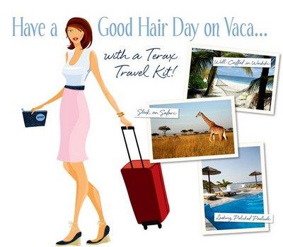 For Blair Warner Hair On the Go: Terax's Travel Kit