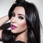 Kim Kardashian's Bright Pink Lipstick Look