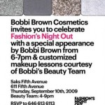 Fashion's Night Out: Bobbi Brown Cosmetics