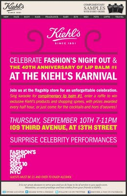 Fashion's Night Out At Kiehl's