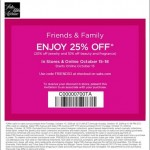 Saks Friends & Family 25% Off Discount