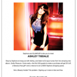 Glamour Invites You To Meet Ashley Tisdale at Sephora!