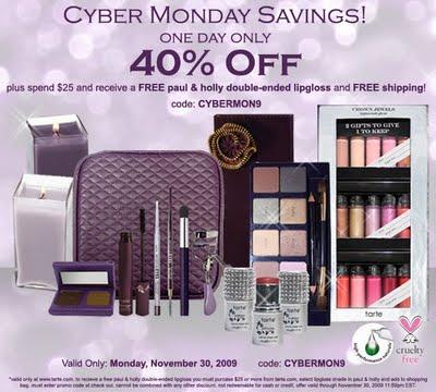 tarte Cyber Monday Deals: 40% Off