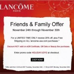 Lancome Friends & Family
