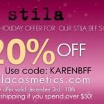 20% Off Stila Cosmetics!