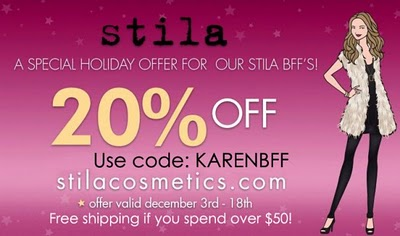 20% Off Stila Cosmetics!