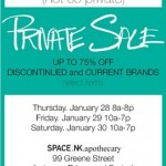 Not-So-Private Sale at Space.NK