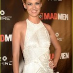 Get The Look: January Jones at the Mad Men Season 4 Premiere in Duffy Square