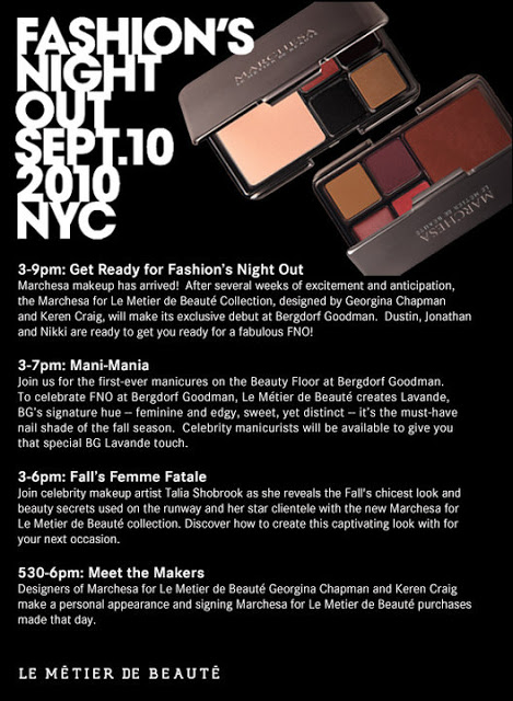 Fashion's Night Out: Le Metier de Beaute at Bergdorf Goodman
