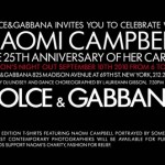 Fashion's Night Out: Celebrate 25 Years of Naomi Campbell