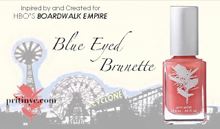 Priti Blue Eyed Brunette Nail Polish Premieres on Boardwalk Empire