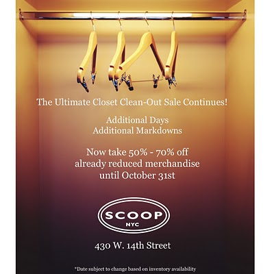 Scoop Warehouse Sale Extended