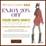Henri Bendel Friends & Family Sale In-store And Online