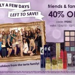 tarte Cosmetics Friends and Family Sale