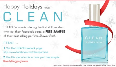 Get A Free Sample Of CLEAN Shower Fresh Perfume
