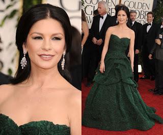 Get The Look: Catherine Zeta Jones At The 2011 Golden Globe Awards
