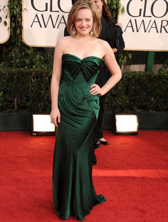 Get The Look: Elisabeth Moss At The 2011 Golden Globe Awards