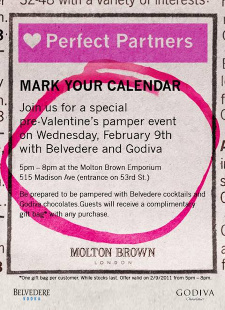 Get Your Molton Brown & Godiva On Tomorrow Night