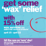 """Wax"" Relief on Tax Day"