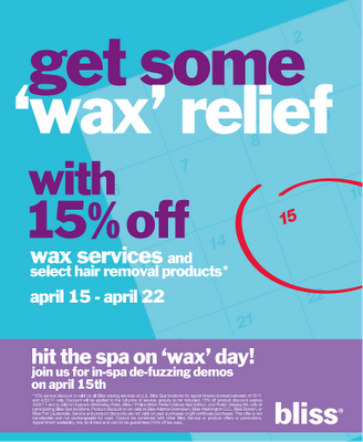 """""""Wax"""" Relief on Tax Day"""