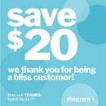 $20 Off At Blissworld.com