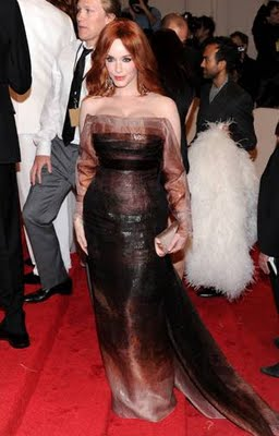 MET Ball 2011 Fashion: Christina Hendricks in Carolina Herrera