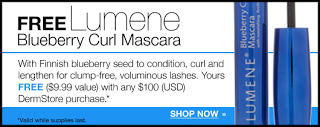 Free Lumene Blueberry Curl Mascara With $100 Purchase On Dermstore