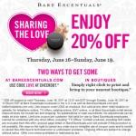 20% off Bare Escentuals